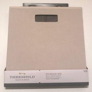 Threshold Storage Bin, Beige & Gray